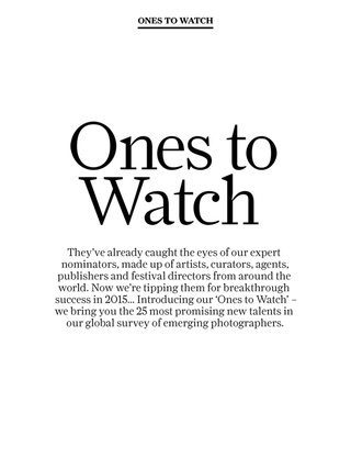 British Journal of Photography - Ones to Watch, February 2015